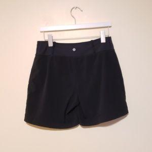 GUC, Lululemon Black Hi Rise belt band Shorts, 8